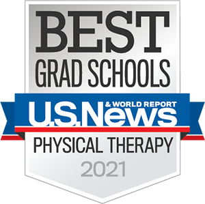 Badge from US news and world report given to Best Grad Schools. Physical Therapy 2021