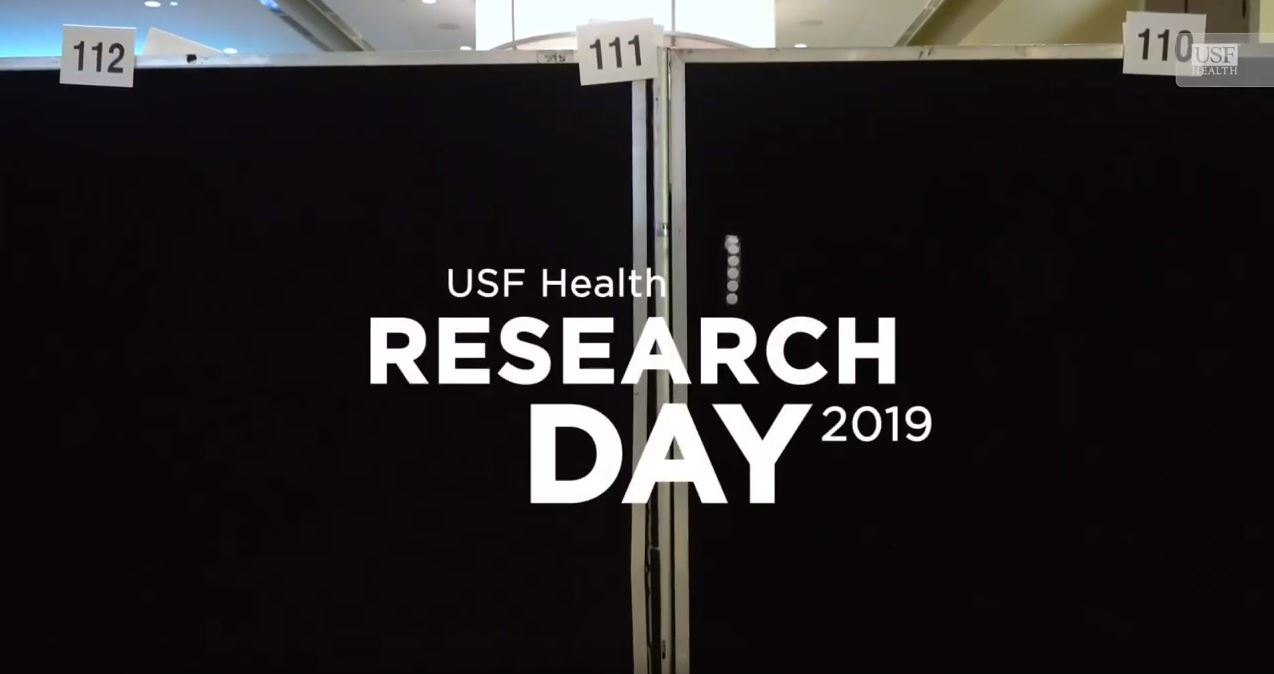 title slide for USF Health Research Day video