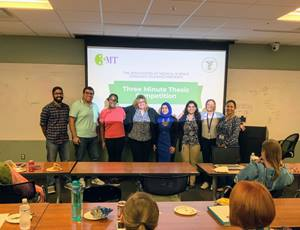 Students who competed in 3MT competition