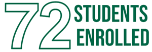 72 students enrolled