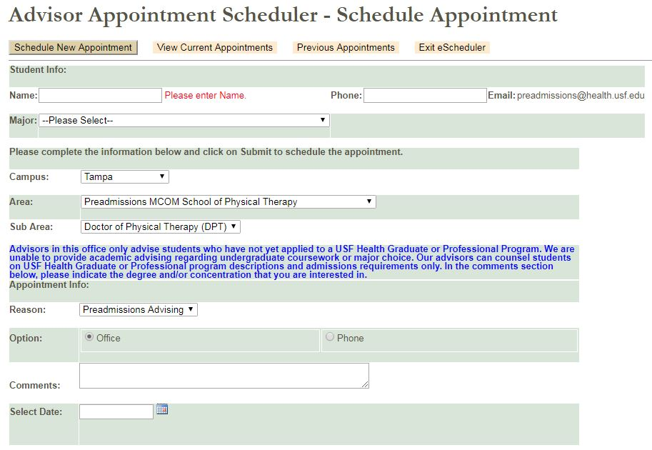 Usf Registrar Calendar.Office Of Preadmissions And Outreach Usf Health