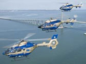 Tampa General Aeromed Helicopters over Skyway Bridge