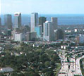 Aerial photo of Tampa skyline