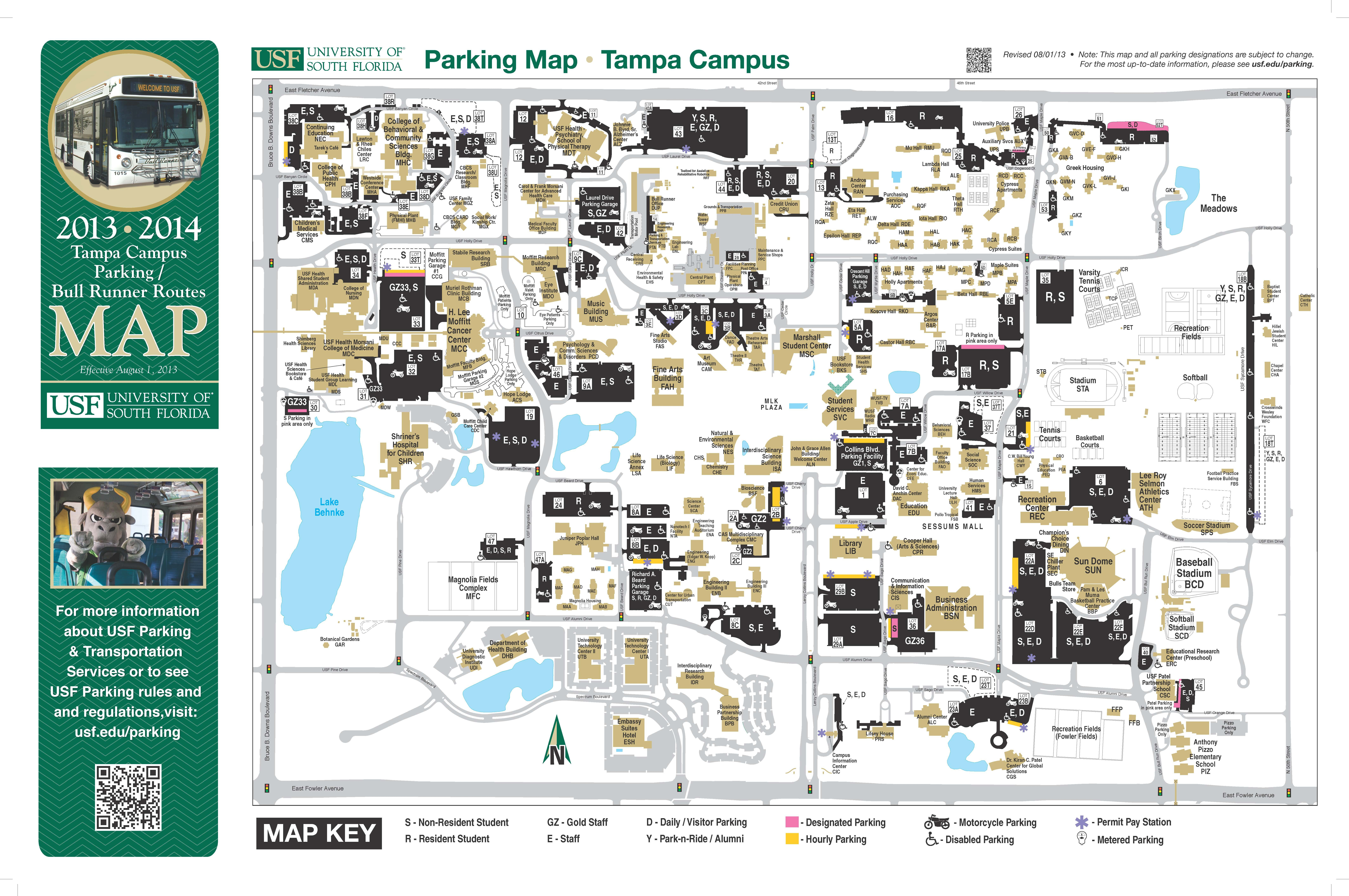 university of south florida map tampa