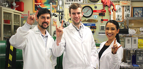 phd students in the lab