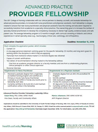 Application Process Usf Health