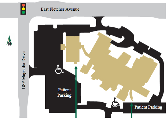 Psychiatry Directions and Parking Map