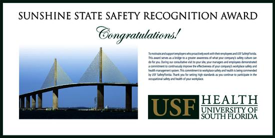 the sunshine state safety recognition award